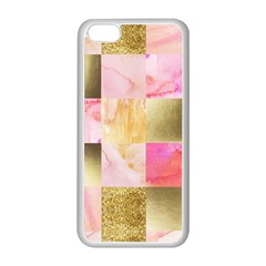 Collage Gold And Pink Apple Iphone 5c Seamless Case (white) by 8fugoso