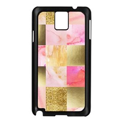 Collage Gold And Pink Samsung Galaxy Note 3 N9005 Case (black) by 8fugoso
