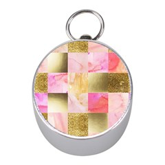 Collage Gold And Pink Mini Silver Compasses by 8fugoso