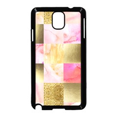 Collage Gold And Pink Samsung Galaxy Note 3 Neo Hardshell Case (black) by 8fugoso