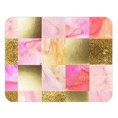 Collage Gold And Pink Double Sided Flano Blanket (large)  by 8fugoso