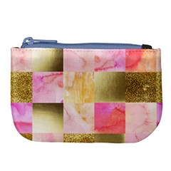 Collage Gold And Pink Large Coin Purse by 8fugoso
