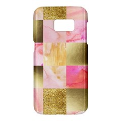 Collage Gold And Pink Samsung Galaxy S7 Hardshell Case  by 8fugoso