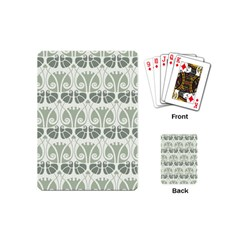 Teal Beige Playing Cards (mini)  by 8fugoso
