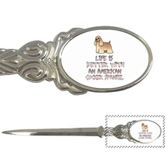 Life Is Better With An American Cocker Spaniel Letter Openers by allthingseveryday