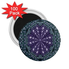 Star And Flower Mandala In Wonderful Colors 2 25  Magnets (100 Pack)  by pepitasart