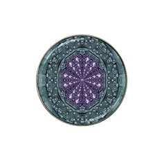 Star And Flower Mandala In Wonderful Colors Hat Clip Ball Marker by pepitasart