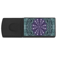 Star And Flower Mandala In Wonderful Colors Rectangular Usb Flash Drive by pepitasart