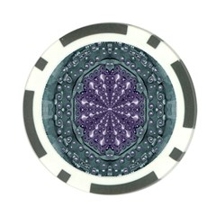 Star And Flower Mandala In Wonderful Colors Poker Chip Card Guard by pepitasart