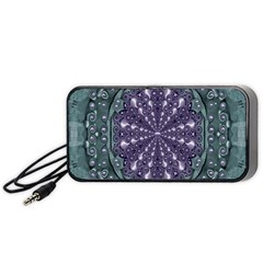 Star And Flower Mandala In Wonderful Colors Portable Speaker by pepitasart