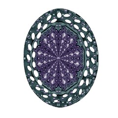Star And Flower Mandala In Wonderful Colors Oval Filigree Ornament (two Sides) by pepitasart