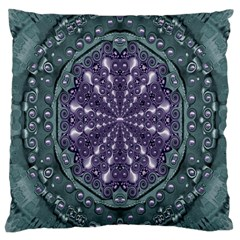 Star And Flower Mandala In Wonderful Colors Large Cushion Case (one Side) by pepitasart