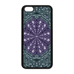 Star And Flower Mandala In Wonderful Colors Apple Iphone 5c Seamless Case (black) by pepitasart