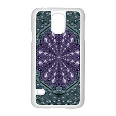 Star And Flower Mandala In Wonderful Colors Samsung Galaxy S5 Case (white) by pepitasart
