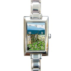 A Day At Safety Beach By Julie Grimshaw 2017 Rectangular Italian Charm Watch by JULIEGRIMSHAWARTS