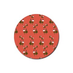 Dance Rubber Round Coaster (4 Pack)