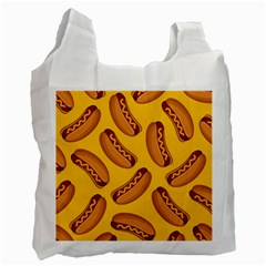Hot Dog Seamless Pattern Recycle Bag (two Side)  by Celenk