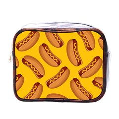 Hot Dog Seamless Pattern Mini Toiletries Bags by Celenk