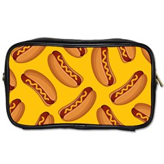 Hot Dog Seamless Pattern Toiletries Bags 2 Side by Celenk