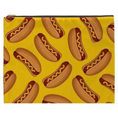 Hot Dog Seamless Pattern Cosmetic Bag (xxxl)  by Celenk