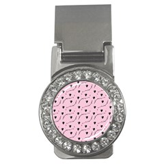 Love Hearth Pink Pattern Money Clips (cz)  by Celenk