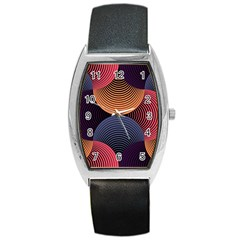 Geometric Swirls Barrel Style Metal Watch by Celenk