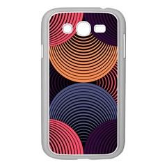 Geometric Swirls Samsung Galaxy Grand Duos I9082 Case (white) by Celenk