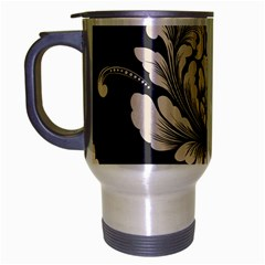 Vintage And Retro Travel Mug (silver Gray) by Celenk