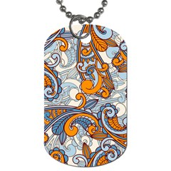 Paisley Pattern Dog Tag (two Sides) by Celenk