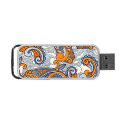Paisley Pattern Portable Usb Flash (one Side) by Celenk