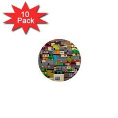 Building 1  Mini Magnet (10 Pack)  by Celenk