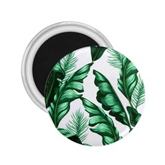 Banana Leaves And Fruit Isolated With Four Pattern 2 25  Magnets by Celenk