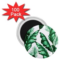 Banana Leaves And Fruit Isolated With Four Pattern 1 75  Magnets (100 Pack)  by Celenk