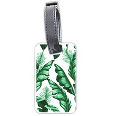 Banana Leaves And Fruit Isolated With Four Pattern Luggage Tags (one Side)  by Celenk