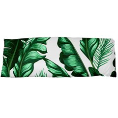 Banana Leaves And Fruit Isolated With Four Pattern Body Pillow Case (dakimakura) by Celenk