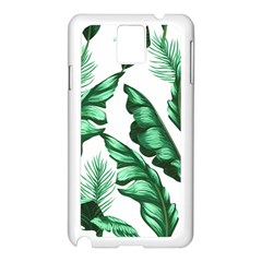 Banana Leaves And Fruit Isolated With Four Pattern Samsung Galaxy Note 3 N9005 Case (white) by Celenk