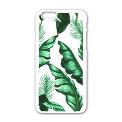 Banana Leaves And Fruit Isolated With Four Pattern Apple Iphone 6/6s White Enamel Case by Celenk