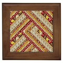 Ethnic Pattern Styles Art Backgrounds Vector Framed Tiles