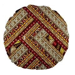 Ethnic Pattern Styles Art Backgrounds Vector Large 18  Premium Round Cushions by Celenk