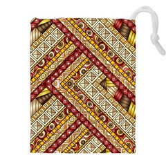 Ethnic Pattern Styles Art Backgrounds Vector Drawstring Pouches (xxl) by Celenk