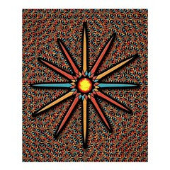 Star Shower Curtain 60  X 72  (medium)  by linceazul
