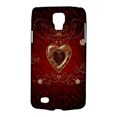 Wonderful Hearts With Floral Elemetns, Gold, Red Galaxy S4 Active by FantasyWorld7