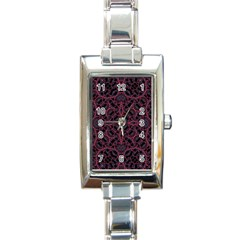 Modern Ornate Pattern Rectangle Italian Charm Watch by dflcprints