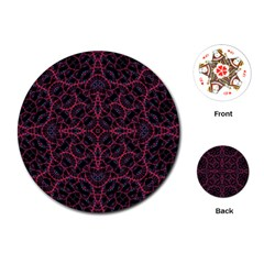 Modern Ornate Pattern Playing Cards (round)  by dflcprints
