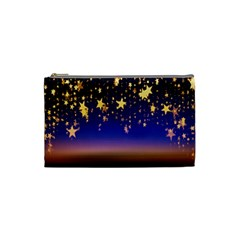 Christmas Background Star Curtain Cosmetic Bag (small)  by Celenk