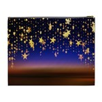 Christmas Background Star Curtain Cosmetic Bag (XL) Back