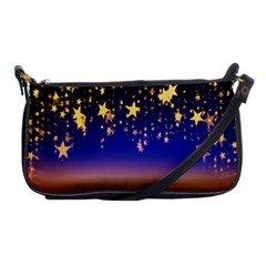 Christmas Background Star Curtain Shoulder Clutch Bags by Celenk