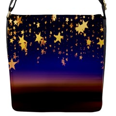 Christmas Background Star Curtain Flap Messenger Bag (s) by Celenk