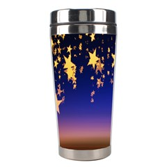 Christmas Background Star Curtain Stainless Steel Travel Tumblers by Celenk