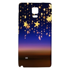 Christmas Background Star Curtain Galaxy Note 4 Back Case by Celenk